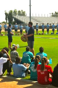 MVUSD band students during the Pacific Crest clinic in 2014.
