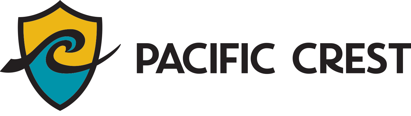 Pacific Crest Header Logo - Drum and Bugle Corp. Diamond Bar, CA
